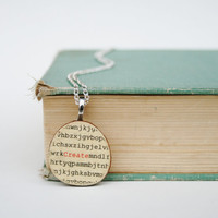 word necklace Create by starlightwoods on Etsy