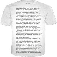 Fall Out Boy Drunk History Script T shirt