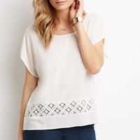 Crochet-Paneled Cutout Top