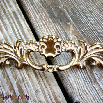 French Provincial Drawer Pulls Brass Drawer Pulls Gold Drawer Pulls Decorative Drawer Pulls White & Gold Cabinet Pulls French Country Pulls