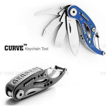 Outdoor Folding Curve Multifunctional Combination Opener Tool Little Whale Pocket Portable Gadget EDC Camping Survival Keychain