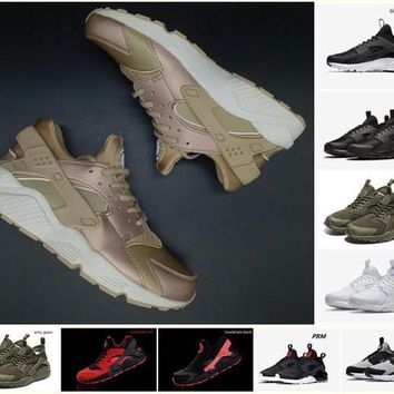 Fashion Online Hot Sale Nike Air Huarache Running Shoes For Men Women Rose Gold High Quality Sneakers