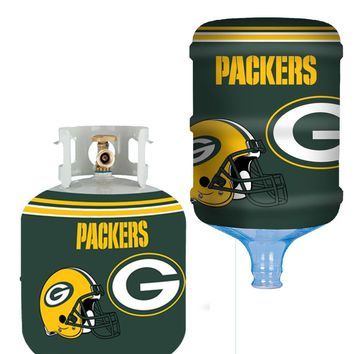 Green Bay Packers All In One Propane Tank / 5 Gallon Bottle Skin Utility Cover