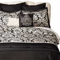 Dominique 8 Piece Bedding Set - Black/White