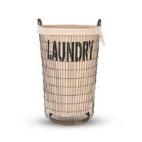 Aidan Gray Decor Wire Laundry Basket with Linen