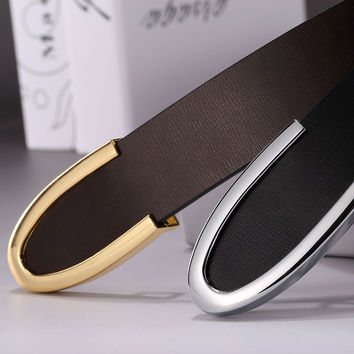 Men belts luxury designer belts men high quality fashion leather belts gold buckle style men strap Cinturon