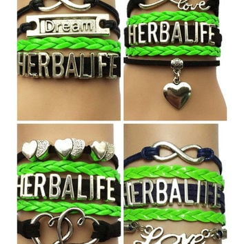 Drop Shipping Infinity Love Herbalife Bracelet- Multilayer Retro Wristband Leather Friendship Cosmetics Charm Gift for Women