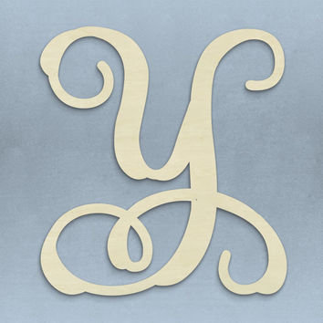 """13"""" Single Letter Vine Monogram Home Decor for Door or Wall Hanging - Free Shipping!"""
