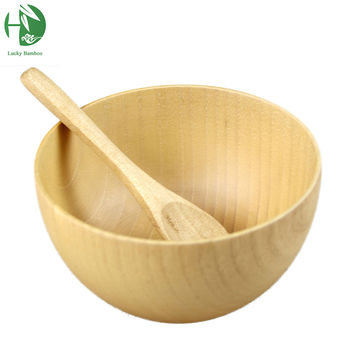 wooden bowl exquisite child tableware salad saladeira ramen fruteira para cozinha soup mixing rice bowls tigelas whloesale