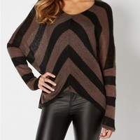 Burgundy Chevron Dolman Sweater