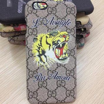Perfect GUCCI Fashion Animal Print iPhone Phone Cover Case For iphone 6 6s 6plus 6s-pl