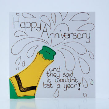 Greeting Card - Happy Anniversary Card - Couple Card - Funny card - Humourous Card