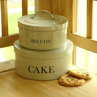 Stackable Cake and Biscuit Tins - Clay - Accessories - Kitchen