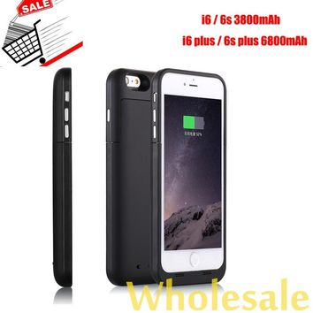 3800 6800mAh For iPhone 6 6s Plus Power Case Mobile Charger Cover Backup Battery Pack Extend Battery Case for iPhone 6