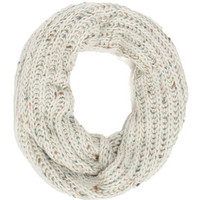 Sprinkles on Top Speckled Ivory Circle Scarf
