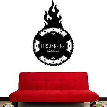 Wall Stickers Vinyl Decal Los Angeles California USA Living Room Decor Unique Gift (z1982)