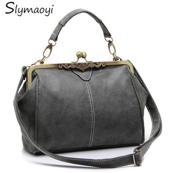 Retro Women Bag Female Shoulder Bag Fashion Women Messenger Bag High Quality PU Leather Tote Bag Small Clutch Handbags