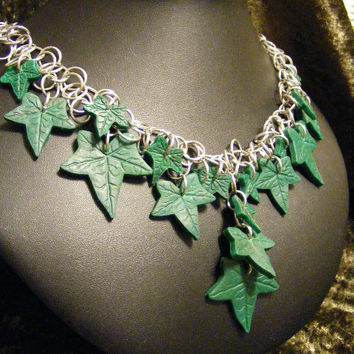 Elven Mystical Ivy Chainmaille Necklace by BackToEarth on Etsy