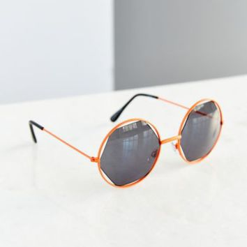 Inside & Out Geo Round Sunglasses-