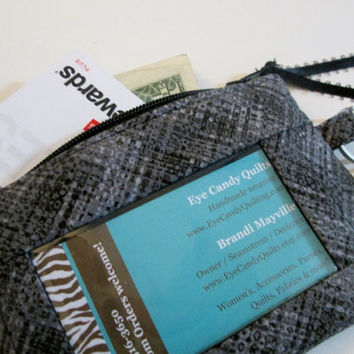 Zippered Wallet with ID Window, Pockets, Key ring & Lobster Clip, Women's Wallets, Accessories