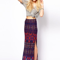 ASOS | ASOS Maxi Skirt in Aztec Print at ASOS