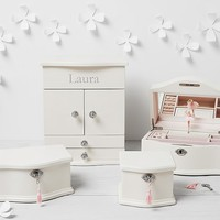 Abigail Jewelry Box Collection -White