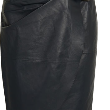 J.W.Anderson - Buckled leather wrap skirt