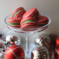 Shimmer Red Velvet Holiday Christmas French Macarons