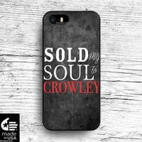 Crowley Supernatural Case for iphone 5 5s 6 case, samsung, ipod, HTC, Xperia, Nexus, LG, iPad Cases
