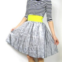 Handmade Highlighter Full Party Skirt S by honeymoonmuse on Etsy