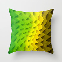 WHERE THE WEEDS TAKE ROOT Throw Pillow by Chrisb Marquez