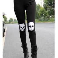 Skull Crop Leggings