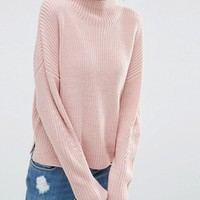ASOS Ultimate Chunky Sweater with High Neck at asos.com