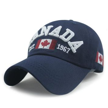 New Arrivals Cotton Gorras Canada Cap Flag Of Canada Hat Snapback Adjuatable Mens Baseball Caps Brand New For Adult