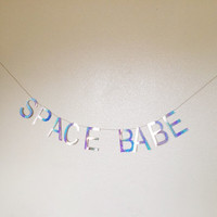 Holographic SPACE BABE Banner