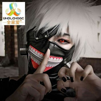 PEAPGB2 High Quality Clearance Tokyo Ghoul 2 Kaneki Ken Mask Adjustable Zipper Masks PU Leather Cool Mask Blinder Anime Cosplay