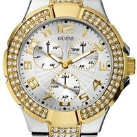 GUESS Status In-the-Round Watch - Gold and Silver