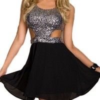 Sexy sequined halter dress MY0009FY