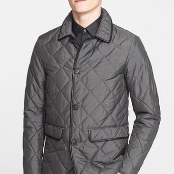 Men's Burberry London 'Birtchly' Quilted Silk Jacket,