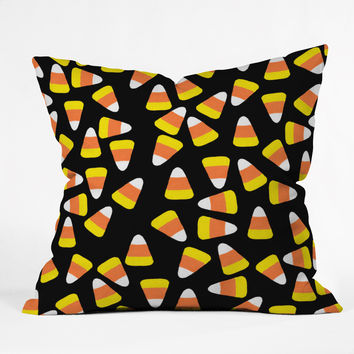 Lisa Argyropoulos Candy Corn Jumble Throw Pillow