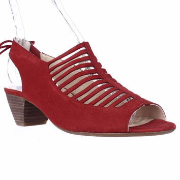 Paul Green Trisha Comfort Dress Sandals - Red Suede