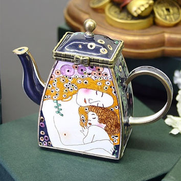 Klimt Mother and Child Miniature Teapot - 7515