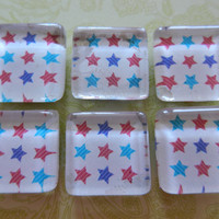 Red and Blue Star Magnets