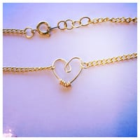 Gold Heart Chain Ankle Bracelet