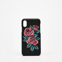 Embroidered rose iPhone X case - iPhone Cases - Bershka United States