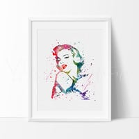 Marilyn Monroe Watercolor Art Print