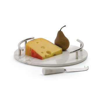Go Home Round Cheeseboard With Knife - 18394