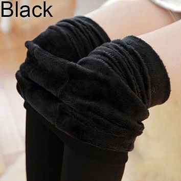 Women's Winter Thick Warm High Waisted Pants Fleece Lined Stretchy Leggings