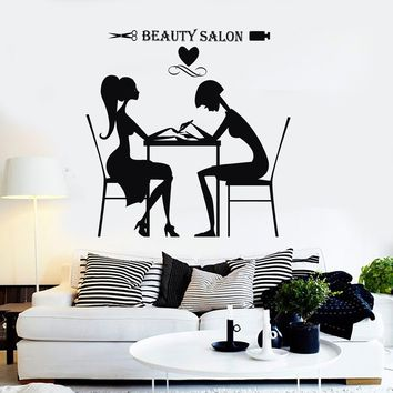 Vinyl Wall Decal Beauty Salon Hair Stylist Nail Spa Stickers Unique Gift (ig4191)