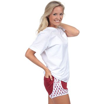 Mississippi Jersey Shorties in Crimson by Lauren James - FINAL SALE